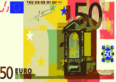 50 euro: vector - 50 euro Illustration