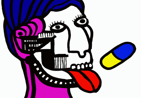 中毒性の: ベクトル - 薬物中毒  イラスト・ベクター素材