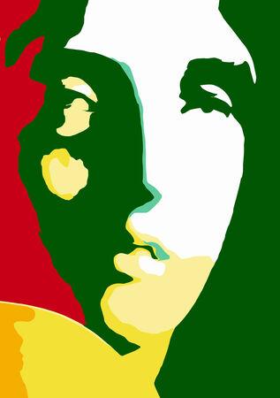 digital painting: vector - portrait Illustration