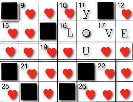 puzzling: Love crossword Stock Photo