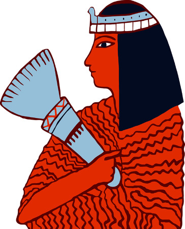 symbolic woman: vector - Egyptian woman  Illustration