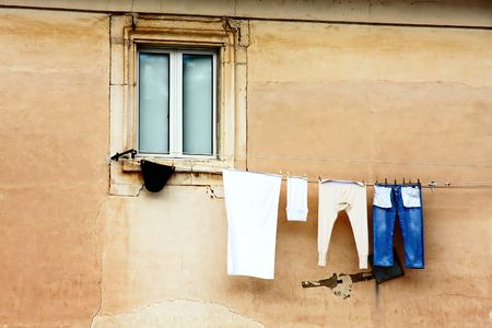 hanging wash - old times view -