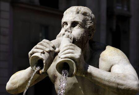 Fountain of the Moor, Piazza Navona, Rome Stock Photo