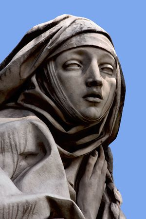 catherine: Saint Catherine, statue at Castel S. Angelo, Rome