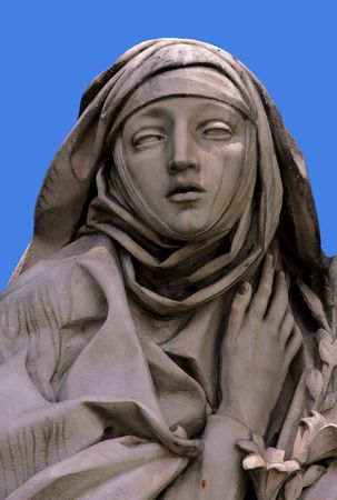 angel statue: Saint Catherine, statue at Castle Saint Angel, Rome Stock Photo