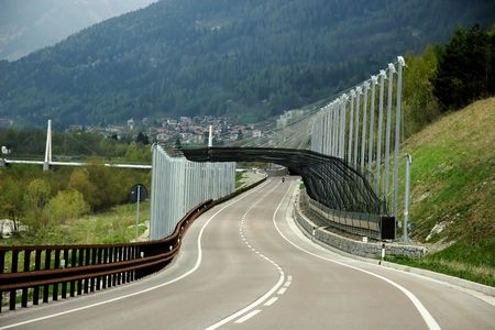 Highway in northern Italy