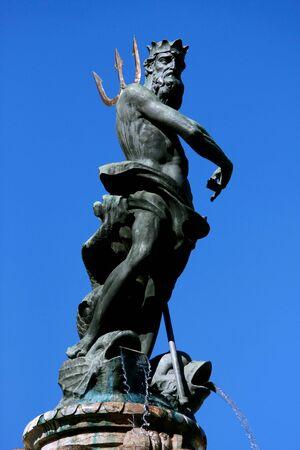 neptuno: Neptune estatua, Trento, norte de Italia  Foto de archivo