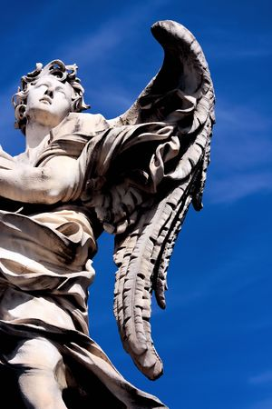 angel statue: Angel, Saint Angel bridge, Rome