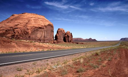 Road to Monument Valley, Utah, USA Stock Photo