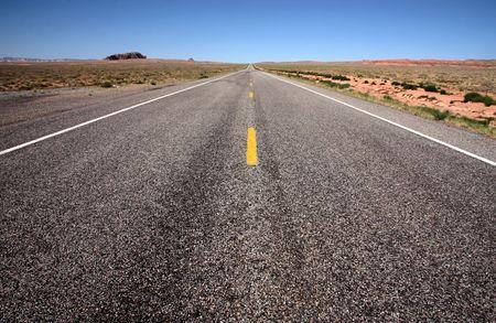 Desert highway, Utah, USA