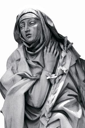 Saint Catherine, statue at Castle Saint Angel, Rome Stock Photo