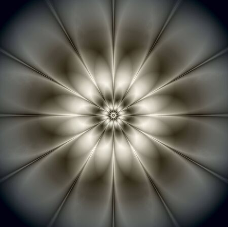 Monochrome digital flower Stock Photo