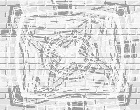 vector - monochrome bricks background Vector