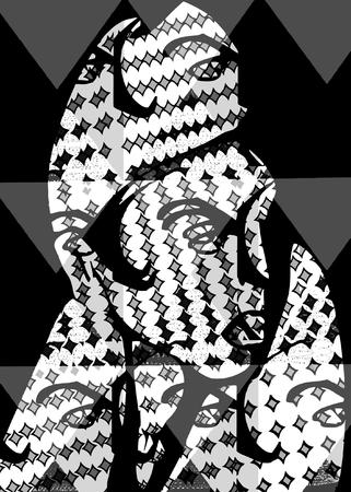 vector - abstract woman portrait Vector