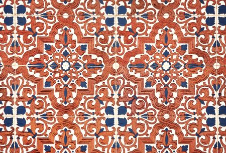 spanish tile: Traditional ancient ceramics, Spain Stock Photo