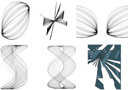 vector - abstract shapes collection Stock Vector - 4174699