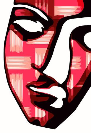 vector - digital mask Illustration