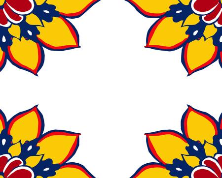 vector - floral frame  Stock Vector - 4314305
