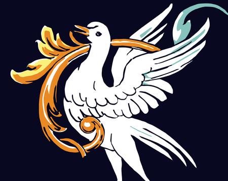 vector - vintage swan  Vector