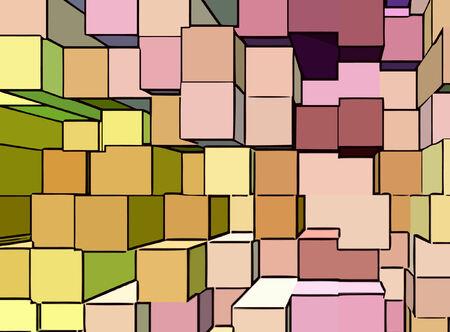 vector - cube cartoon Vector