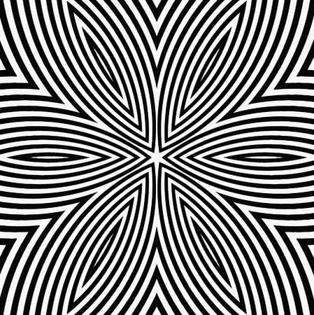 vector - black and white digital flower Illustration