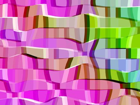 vector - color stripes Illustration