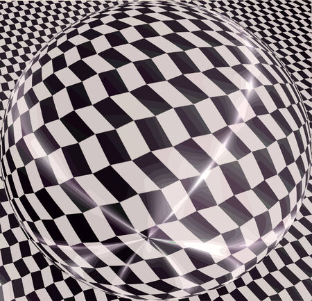 illusions: vector - sphere optical view