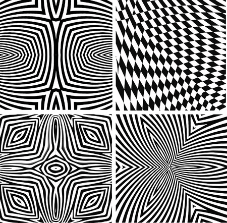 vector - optical art collection  Illustration