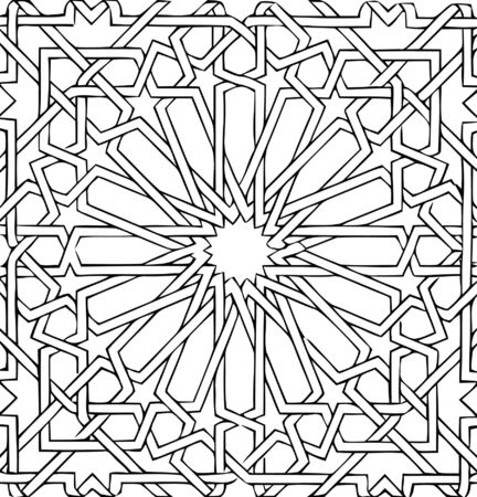 ceramic: vector - arabic ceramic tile