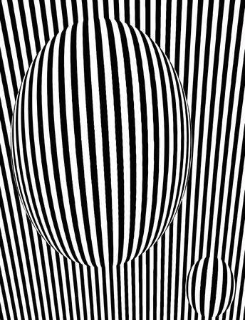vector - optical art  Illustration