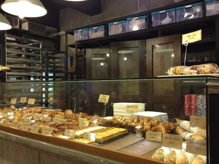 Assortment of fresh pastry in a party shop