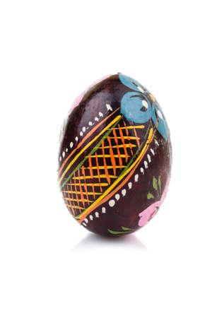 Easter Colorful Eggs concept on white close-up