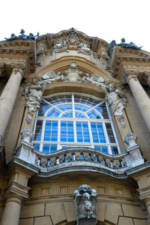 europe closeup: Piece of  of Castle Vajdahunjad in Budapest, Hungary, Europe, close-up view