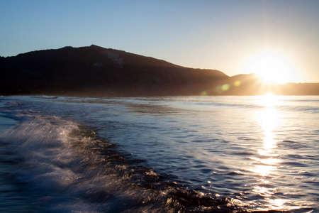 Wave on beach in Zakynthos Island, Greece