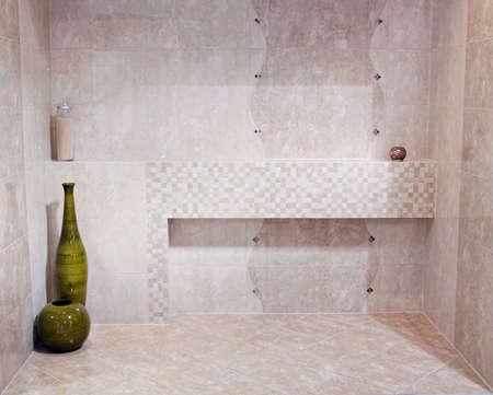 new empty bathroom interior, elegance stone design