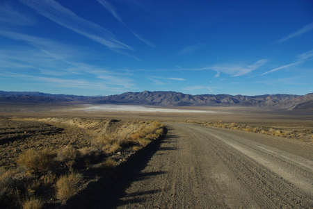 excelsior: Excelsior Mountains and salt flats, Nevada Stock Photo
