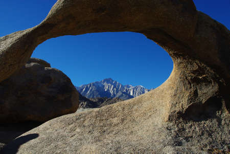 Arch and Sierra Nevada, California Stock Photo - 12520953