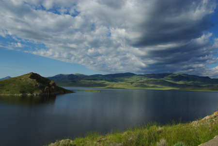 クラーク キャニオン貯水池 (モンタナ州) 写真素材