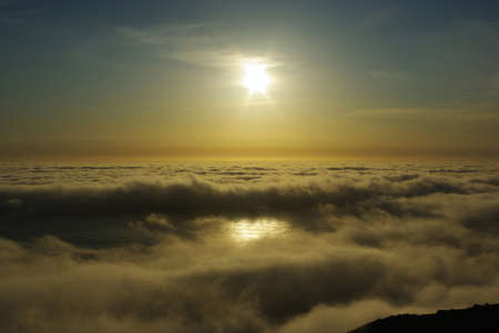 Pacific Ocean sunset, California Stock Photo - 12520470