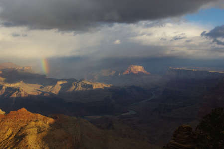 Grand Canyon, Rainbow and Colorado River photo