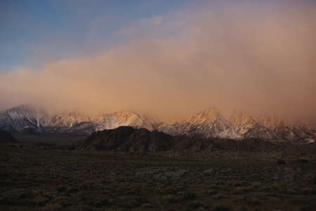 Early Morning in the Alabama Hills with Sierra Nevada, California Stock Photo - 12520511