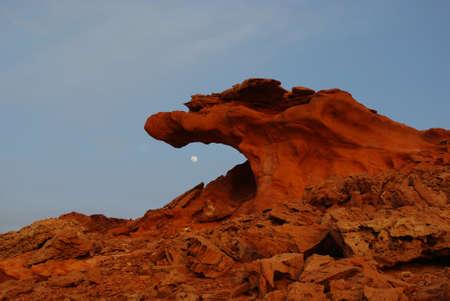 Moon eating dragon, Little Finland, Nevada photo