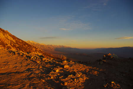 Early morning high above Alabama Hills, Sierra Nevada, California photo