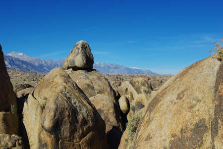 Alabama Hills and Sierra Nevada, California Stock Photo - 12520875