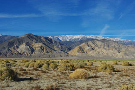inyo national forest: High Desert and White Mountains, Inyo National Forest, Nevada Stock Photo