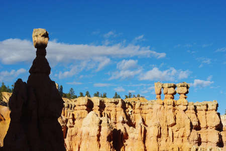 Shadow and light on Thor s Hammer, Bryce Canyon National Park, Utah photo