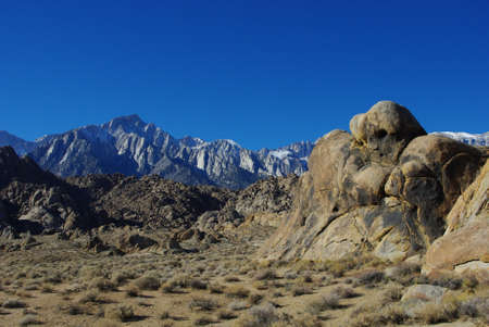 Sleeping ghost, Alabama Hills, Mt Whitney and Sierra Nevada, California photo