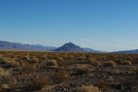 near death: Desert and mountain ranges near Death Valley Junction, Nevada   California border