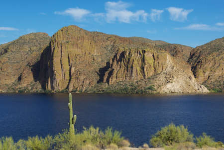 Saguaro Lake near Tortilla Flat, Arizona Stock Photo