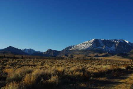 sierra snow: High Prairie and snow mountains of Sierra National Forest, California